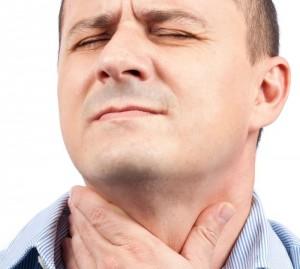 Першение в горле у мужчины